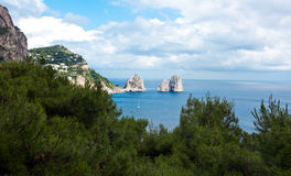 Faraglioni, famous giant rocks, Capri island Stock Photography