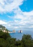 Faraglioni, famous giant rocks, Capri island Stock Image