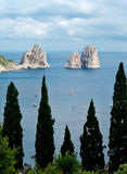 Faraglioni, famous giant rocks, Capri island Stock Photo