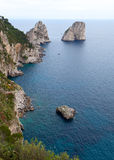 Faraglioni, famous giant rocks, Capri island Royalty Free Stock Photography