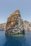 Faraglioni - formações de rocha no mar Tyrrhenian fotografia de stock royalty free