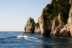 Faraglioni Rock formation on island Capri, Italy Stock Photo