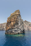 Faraglioni - rock formations on the Tyrrhenian Sea Royalty Free Stock Photography