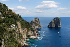 Faraglioni Rocks, Capri Royalty Free Stock Photo