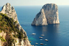 Faraglioni rocks at Capri island Stock Images