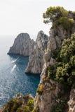 Faraglioni rocks at Capri island Royalty Free Stock Image