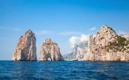 Faraglioni rocks of Capri island, Italy Stock Photography