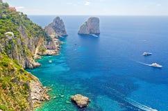 Faraglioni Rocks at the Island of Capri, Italy Royalty Free Stock Photos