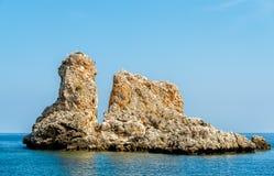 Faraglioni of Scopello at Zingaro Nature Reserve, Sicily. royalty free stock image