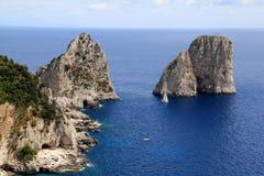Faraglioni van Capri royalty-vrije stock foto's