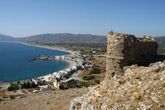Faraklou castle in Rhodes island Stock Photo