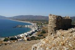 Faraklou castle in Rhodes island Stock Photo