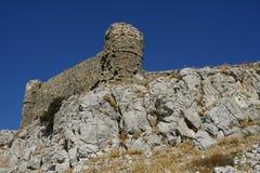 Faraklou kasztel w Rhodes wyspie Zdjęcia Royalty Free