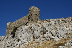 Farakloukasteel in het eiland van Rhodos Royalty-vrije Stock Foto's