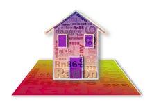 Faran av radongas i våra hem - begreppsillustration vektor illustrationer