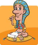 Farao die schrijvend een brief zit Royalty-vrije Stock Foto's