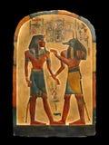 Farao en Anubis. Egyptisch palet. stock afbeeldingen