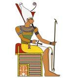 Farao, geïsoleerd cijfer van de oude farao van Egypte royalty-vrije illustratie