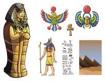 Faraosarkofag Arkivfoto