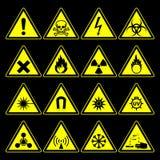 Farasymbol- och teckensamling Arkivbild