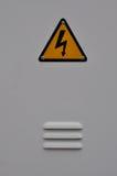 Faratecken för elektrisk chock Fotografering för Bildbyråer