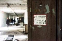 Faratecken nära Tjernobylet Royaltyfria Bilder