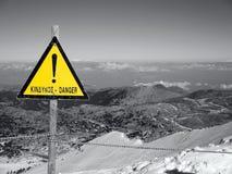Faratecken på berget royaltyfri fotografi