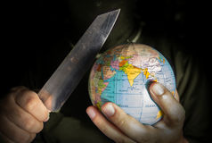Faraterrorist för världen arkivfoton