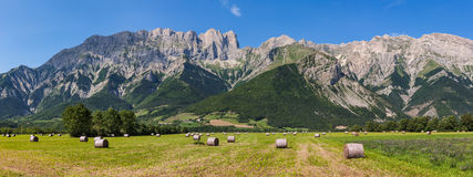 Faraut Mountain at Summer in Hautes Alpes, Southern Alps, France. The Faraut mountain with Roc Roux, Tete de Claudel and Tete du Collier on a summer afternoon Royalty Free Stock Photos