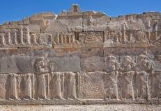 Faravahar - relief of winged sun symbol in Persepolis Royalty Free Stock Image