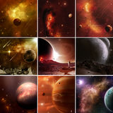 Faraway Space Worlds Stock Photography