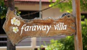 Faraway villa Arkivbilder