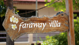 Faraway villa Stock Images