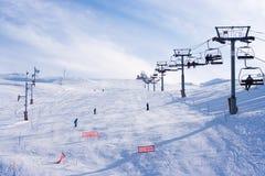 faraya mzaar滑雪岗位 免版税库存照片