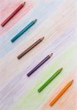 Farb-Bleistift und Satz Farbe-penci Lizenzfreies Stockbild