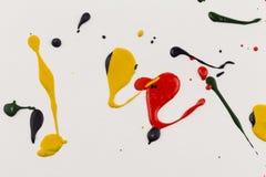 farb kropel pluśnięcia papier Zdjęcie Royalty Free