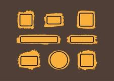 Farb plamy z ramami Muśnięć uderzenia z pudełkami dla teksta ilustracja wektor