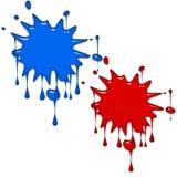farb pluśnięcia Zdjęcie Royalty Free