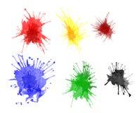 farb splats Zdjęcie Stock