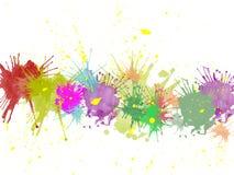 farb splats Obrazy Stock