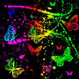 farb splats Obraz Royalty Free