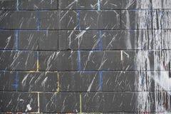 Farb splatters na ścianie Obrazy Royalty Free