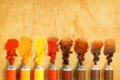 farb stubarwne tubki zdjęcia stock