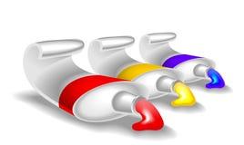 Farb tubki Zdjęcia Stock