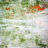 Farb uderzenia na metal powierzchni obraz stock