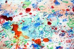 Farba bryzga pastelowego tło, abstrakcjonistyczna kolorowa tekstura Fotografia Royalty Free