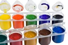 farba guasz farba Zdjęcia Stock