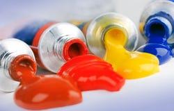 farba maluje tubki Obrazy Stock