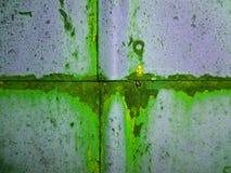 Farba metalu tekstury tła zieleni szarość Obraz Stock