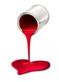 Farba może dolewanie czerwony kierowy symbol zdjęcia stock